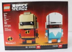 It has been reported that the LEGOLAND in the United States have already started selling the LEGO BrickHeadz Incredible 2 Mr. Incredible & Frozon (41613)