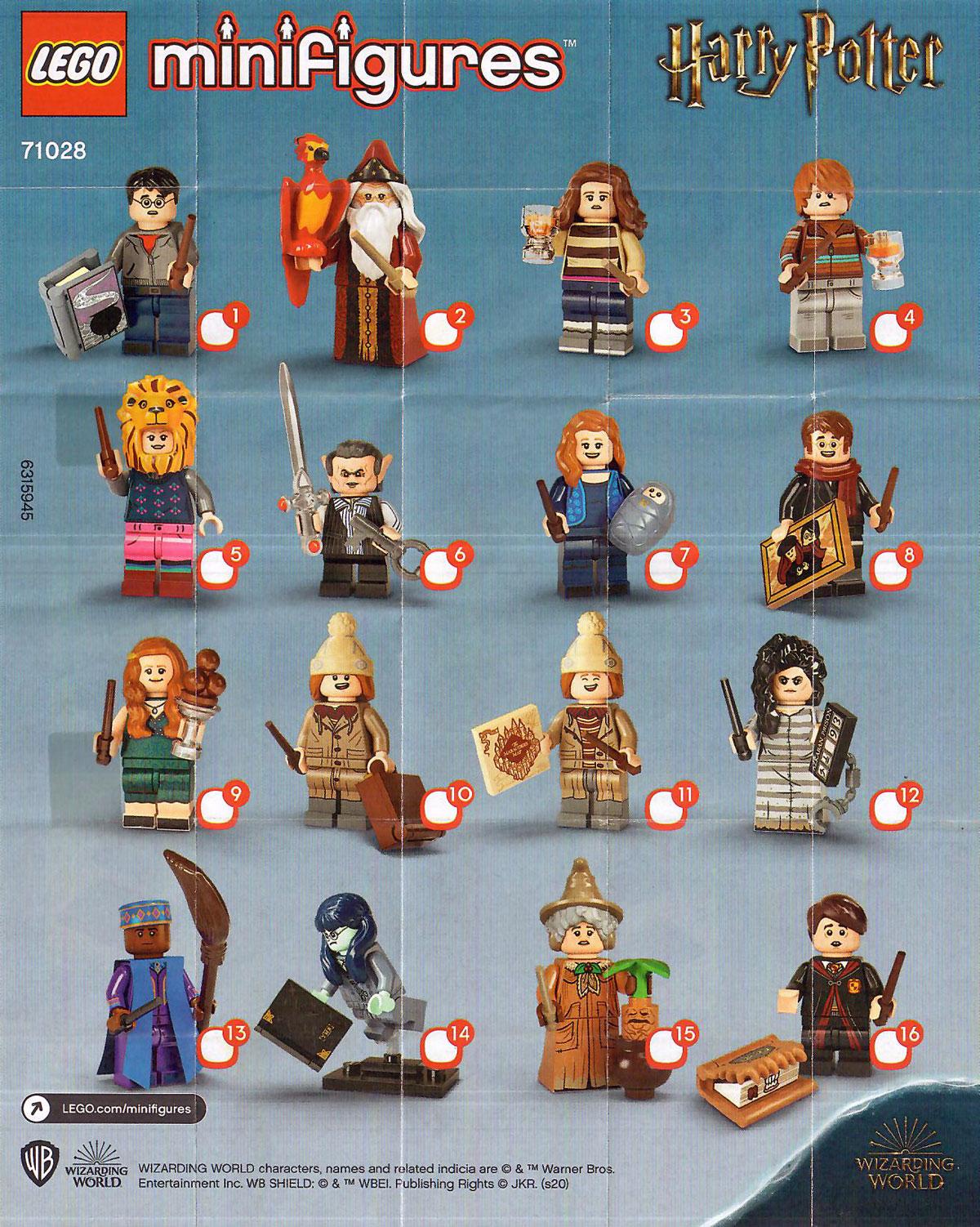 brickfinder - lego harry potter cmf series 2 (71028) full